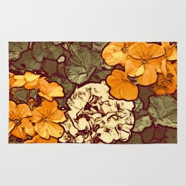Orange Geranium, Plant of Feminine Healing Rug