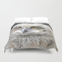 swedish Duvet Covers featuring Swedish owl by ilsephilips