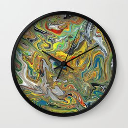 Abstract Oil Painting 6 Wall Clock