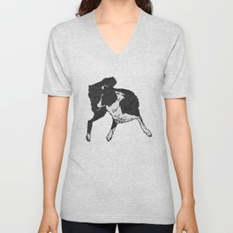 Dog Lover (Border Collie) Unisex V-Neck