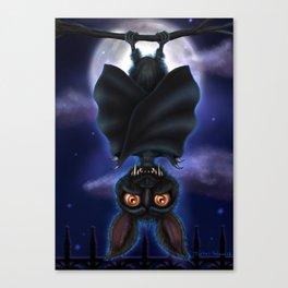 Bibs the Bat by Topher Adam 2017 Canvas Print