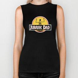 Jurassic Dad Dinosaur Skeleton Funny Birthday Gift 2 Biker Tank