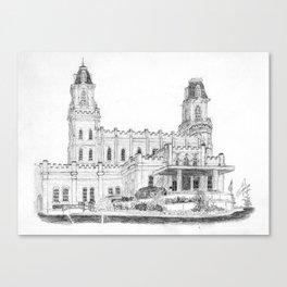 Manti UT LDS Temple Canvas Print