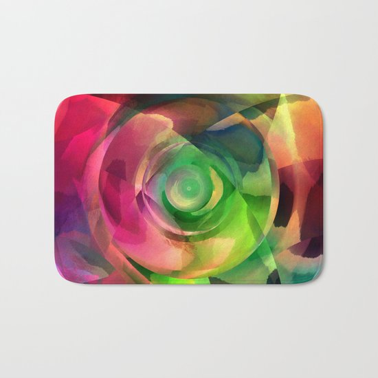 Multicolored abstract no. 14 Bath Mat