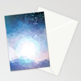Galaxy low poly Stationery Cards