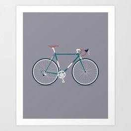 My Bike Dark Green Art Print