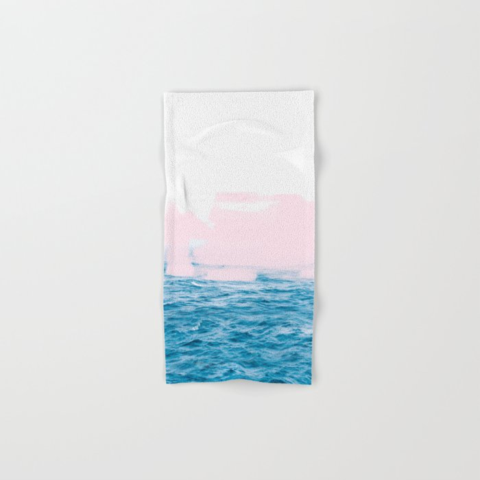 Ocean + Pink #society6 #decor #buyart Hand & Bath Towel
