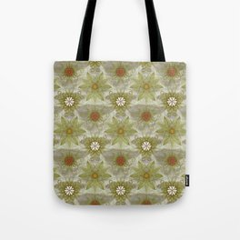 Vintage English Garden Pattern Tote Bag
