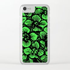 Green Hydrangea Clear iPhone Case