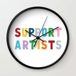Support Artists Wall Clock