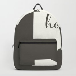 Ohio is Home - White on Charcoal Backpack