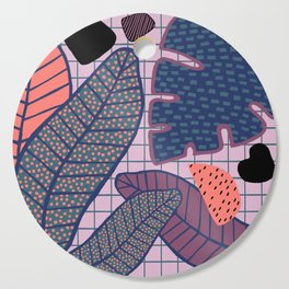 Palm & Monstera Leaves Cutting Board
