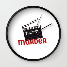 Acting Actor Actress Clapperboard Movie Gift Wall Clock