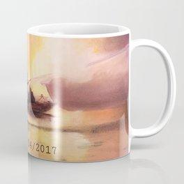 Marina Boat Fire - Fire Series Coffee Mug