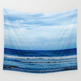 The Birds and the Seas Wall Tapestry