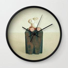 W is for Wheels Wall Clock