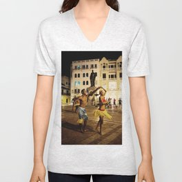 Dancer in Cartagena Unisex V-Neck