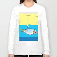 fishing Long Sleeve T-shirts featuring Fishing by ilkai