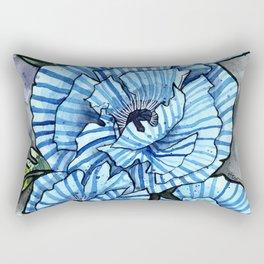 BLUE POPPY Rectangular Pillow