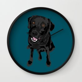 Black Labrador Wall Clock
