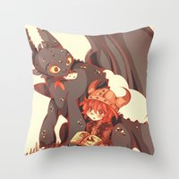 how to train your dragon Throw Pillows featuring How to Train your dragon! by SweetOwls