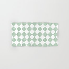 Rustic Farmhouse Checkers in Sage Green and White Hand & Bath Towel