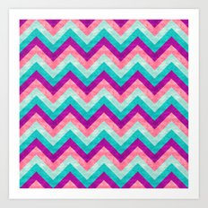 Chevron - Girly Art Print