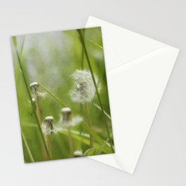 Three-Quarters of a Wish Left painterly Stationery Cards