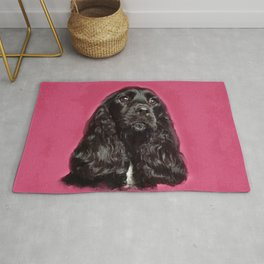 English Cocker Spaniel Dog Digital Art Rug