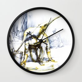 Two-faced anteater Wall Clock