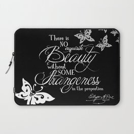 Strange Skullerflies - EA Poe Quote Laptop Sleeve