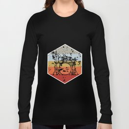Retro Lightweight Percusion Graphic Tee Shirt Gift Cool Drums Musical Instrument Drumsticks Men Long Sleeve T-shirt