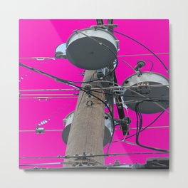 Electric Pink Bubble Gum Bitches! Metal Print