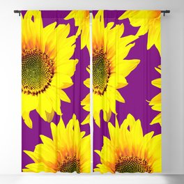 Sunflowers on a purple background - summer mood - #Society6 #buyart Blackout Curtain