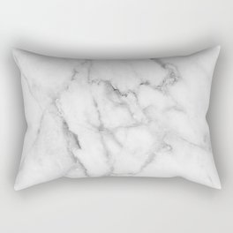 Clean White Marble Rectangular Pillow
