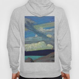 """Tom Thomson Clouds (""""The Zeppelins"""") 1915 Canadian Landscape Artist Hoody"""