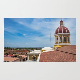 Looking towards Lake Nicaragua from Granada Cathedral Rug