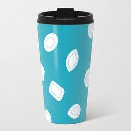 Blue Moissy Gem Pattern Travel Mug