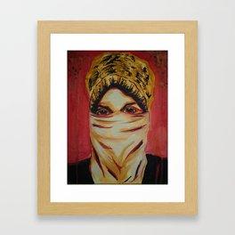 The Protester Framed Art Print