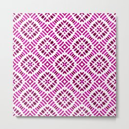 Shibori Watercolour no.7 Magenta Metal Print