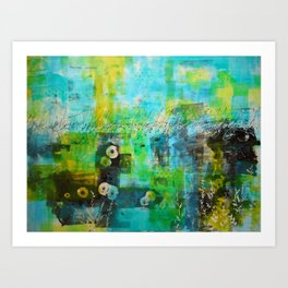 Abstract Blue in the Breeze Art Print