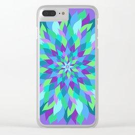 Abundant Petals Mandala Clear iPhone Case