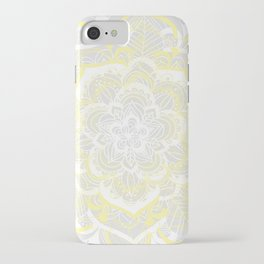 Woven Fantasy - Yellow, Grey & White Mandala iPhone Case