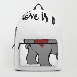 love is for hippos Backpack