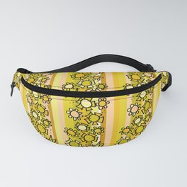 flower power retro wallpaper vibes by surfy birdy Fanny Pack