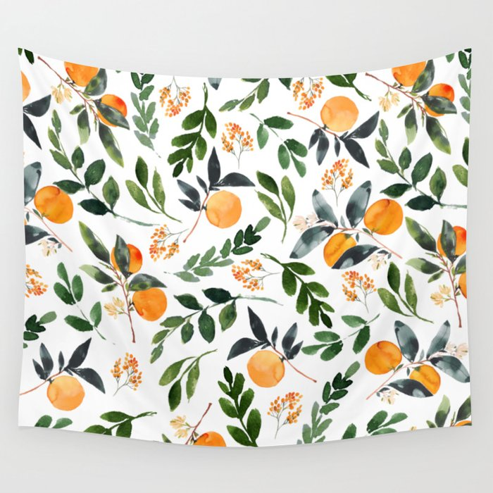 Orange Grove Wandbehang