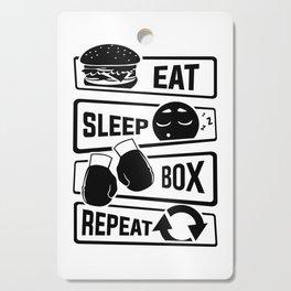 Eat Sleep Box Repeat - Boxing Boxer Uppercut Jab Cutting Board