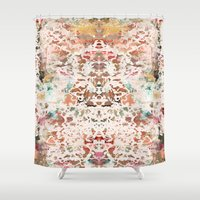 minerals Shower Curtains featuring Mystic Minerals 2 by Caroline Sansone