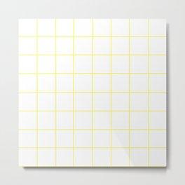 WINDOWPANE ((sunshine yellow)) Metal Print
