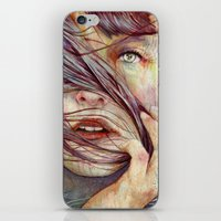 portrait iPhone & iPod Skins featuring Opal by Michael Shapcott